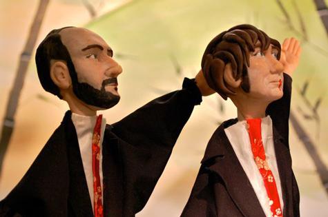 Dan & Andy puppets